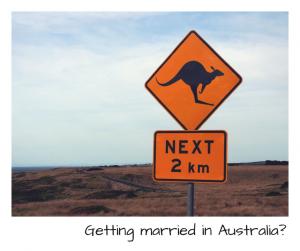 Getting married in Australia